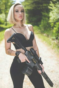 Recoil chick girl pistol tits boobs