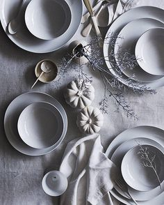 Gorgeous white on white table setting