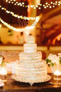 #funfetti-cake  photography: Judy Pak Photography - judypak.com  Read More: http://www.stylemepretty.com/2014/02/25/elegant-farm-wedding-in-the-berkshires/