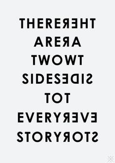 Conflict resolution There are two sides to every story.