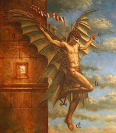 "Jake Baddeley  ""The Cult of Birdman""  Oil on canvas, 2005."
