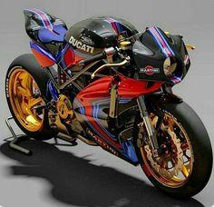 Now that's a cool ducati Moto Ducati, Ducati Cafe Racer, Cafe Racer Bikes, Moto Bike, Motorcycle Bike, Kawasaki Cafe Racer, Concept Motorcycles, Ducati Motorcycles, Custom Motorcycles