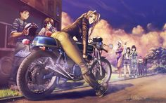 Anime Wallpaper 1680 x 1050 anime girls, Ah! My Goddess!, motorcycle