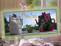 Cubre Teteras  Cubre Teteras en tela, vienen en varios colores y combinaciones. Ideal para mantener x más tiempo tus infusiones calentitas o simplemente para decorar la mesa en un divertido Tea Party con tus amigas!!!