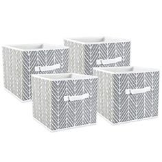 Dii Fabric Storage Bins for Nursery, Offices, & Home Organization, Containers Are Made To Fit Standard Cube Organizers inch) Herringbone Fabric Storage Bins, Fabric Bins, Cube Storage, Cube Organizer, Organizers, Holiday Storage, Linen Closet Organization, Closet Storage, Laundry Hamper