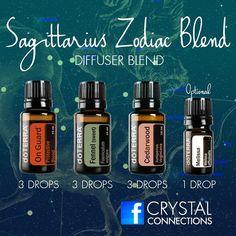Sagittarius zodiac blend - onguard, fennel, cedarwood and melissa