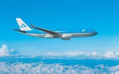 تحميل خلفيات إيرباص A330-200, 4k, طائرة ركاب, KLM الخطوط الجوية, إيرباص A330, الطيران المدني, A330, ايرباص