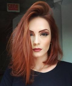 Cabelos Red Hair Green Eyes, Red Copper Hair Color, Velvet Hair, Ginger Hair, Love Hair, Gorgeous Hair, Hair Looks, New Hair, Hair Inspo