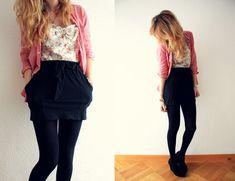 Forever 21 Skirt, Floral Romper, Weekday Wedges