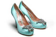 Tiffany blue shoes with butterfly | Madame Covet's Style Boutique: Farfalla Tiffany Blue Butterfly Shoes
