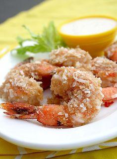 Coconut Baked Shrimp with Piña Colada Dipping Sauce