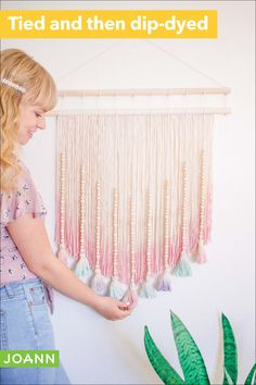Step aside, paintings & pictures. Make room for macrame! This is what happens when you combine two cool art techniques, like macrame & tie-dye. Awesome!