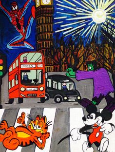 ARTFINDER: Rush Hour by Ashlie  Urquhart - Inspiration The madness of rush hour in London.
