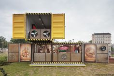 Desperados containers by Horeca Strategies Desperados pop-up bars and DJ Stands, which will be used during festivals, concerts ad in promotional areas. #retail #design