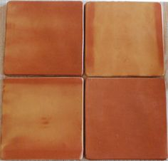 This group of 4 Terracotta tiles shows typical variations in color. Get this look for your Spanish style home. Mexican Saltillo Tiles are a form of quarry flooring that will outlast generations! Spanish tiles will add value and beauty to your home. Four Seasons Room, Terracotta Floor, Grey Grout, Spanish Tile, Clay Tiles, Color Tile, Just For You, Mexican, Tile Flooring