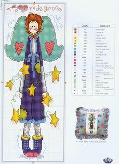 point de croix - cross stitch country angel