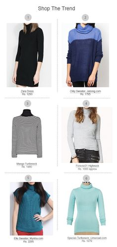 Turtleneck Sweaters: Chunky or skinny, this up-to-the-chin pullover is not only sure to keep away the shivers, but it can also look chic and dressy enough for al...