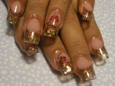 Embellished Glitter French Nail Art
