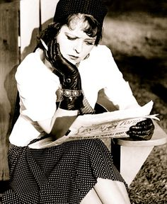 Clara Bow catches up on the news
