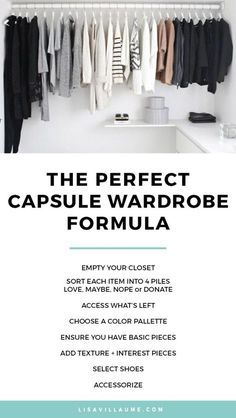 Looking fabulous doesn't have you send you broke! Follow this step-by-step formula on how to create a capsule wardrobe you adore.