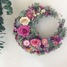 Dried Flowers, Paper Flowers, Wreaths And Garlands, Deco Floral, Funeral Flowers, How To Preserve Flowers, Summer Wreath, How To Make Wreaths, Diy Wreath