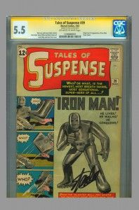 CGC SS 5.5 Tales of Suspense (1st appearance of Iron Man) signed by Stan Lee - on www.vaultcollectibles.com. #cgcss #talesofsuspense #tos39 #stanlee #marvelcomics