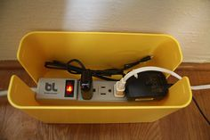Bluelounge Cablebox Mini. Hide those cords! Our entryway and our daughter's room has the only phone jacks so my entryway's  got a clutter of cords from internet and phone. this is definitely needed and cute to boot!