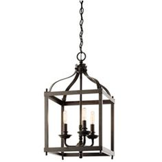 Larkin Olde Bronze Three Light Cage Foyer Pendant