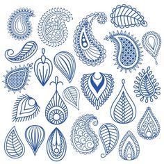 Oriental leaf doodle