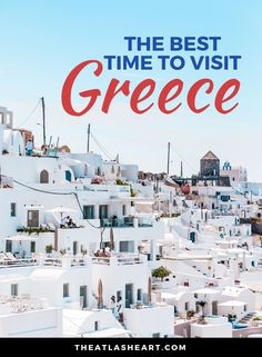 The best time to visit Greece depends on what type of trip you're looking for. In my latest post, I break down the best time to visit based on weather, price, and things to do! Have you been to Greece yet? Mykonos, Santorini, Best Greek Islands, Greece Islands, Greece Vacation, Greece Travel, European Destination, European Travel, Alone