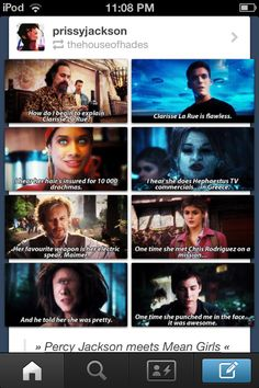 Percy Jackson and the Olympians and mean girls