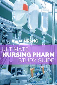 Massive nursing pharmacology study guide.