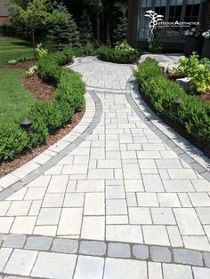 Want your walkway to stand out? Bordering your walkway with some garden beds is very eye catching. Front Entrances, Front Entry, Holiday Lights, Landscape Lighting, Garden Beds, Garden Landscaping, Landscape Design, Exterior, Walkways