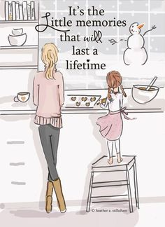 """""""it's the little memories that last a lifetime."""" - the Heather Stillufsen Collection from Rose Hill Designs on Etsy Rose Hill Designs, Family Wall Art, Mothers Love, Happy Mothers, My Children, Quotes Children, Child Quotes, Quotes On Family, Quotes Kids"""