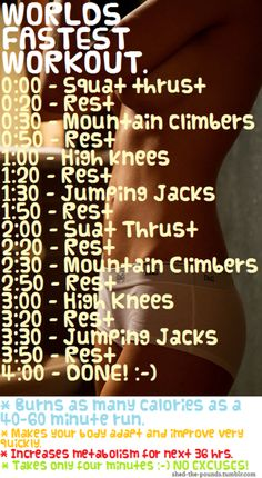 Fastest Workout?