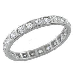 1920s 0.80ct Round Diamond Platinum Eternity Wedding Band - See more at: http://www.newyorkestatejewelry.com/wedding-bands/antique-0.80ct-diamond-eternity-wedding-band/22224/4/item#sthash.cJHjeoni.dpuf