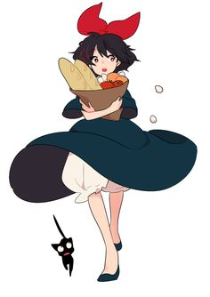Find images and videos about cute, art and anime on We Heart It - the app to get lost in what you love. Kiki Delivery, Kiki's Delivery Service, Hayao Miyazaki, Totoro, Character Design References, Character Art, Personajes Studio Ghibli, Super Heroine, Studio Ghibli Art