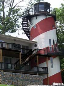 A real lighthouse that you can sleep in. It's a bed and breakfast in Cullman AL.
