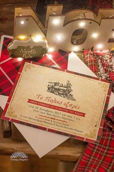 invitation polar Express Polar Express Theme, Gift Wrapping, Invitations, Gifts, Wedding, Gift Wrapping Paper, Valentines Day Weddings, Presents, Wrapping Gifts