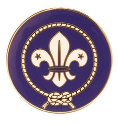 The new World Scout hat pin has a twin prong fixing to go onto the hat band on the Baden-Powell hats. Size 25mm