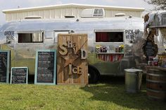 round top's original all natural shaved ice! they sell out of a vintage Airstream trailer in Round Top Texas for Antiques Week twice a year!