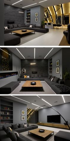 Game room😉 More ideas below: DIY Home theater Decorations Ideas Basement Home theater Rooms Red Home theater Seating Small Home theater Speakers Luxury Home theater Couch Design Cozy Home theater Projector Setup Modern Home theater Lighting System Home Theater Lighting, Home Theater Rooms, Home Theater Seating, Home Theater Design, Interior Lighting, Home Hall Design, Hall Interior, Kitchen Interior, Best Living Room Design