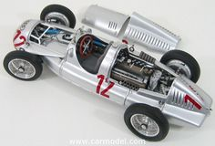 CMC - AUTO UNION - F1 TYPE D N 12 GP FRANCE 1939 H.P.MULLER Skala:: 1/18Code: M089Farbe: SILVERMaterial: Die-Cast