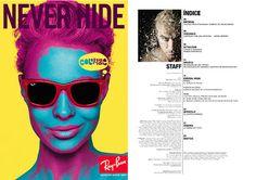 Marta Serrano: - Diseño Editorial ( Revista - Periódico) - Mirrored Sunglasses, Mens Sunglasses, O Design, Fashion, Journals, Moda, Man Sunglasses, Fashion Styles, Men's Sunglasses