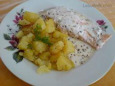 Losos s koprovou omáčkou No Salt Recipes, Top Recipes, Trout, Ham, Potato Salad, Cauliflower, Salmon, Potatoes, Fish
