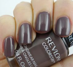 Revlon Colorstay polish in Stormy Night a taupe purple, I really want this color