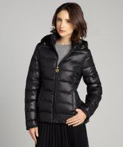 Betsey Johnson : black quilted down filled puffer coat style #323648101