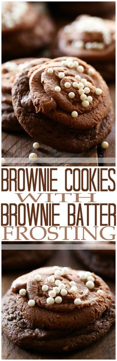 Brownie Cookies with Brownie Batter Frosting - These cookies are rich, chocolaty and absolute heaven! If you love chocolate, these are the perfect cookie for you!