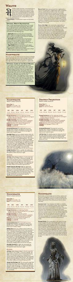 Wraith: DnD 5e Homebrew