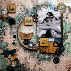 "Video tutorial ""Live laugh love"" layout for The Scrapbook Store 